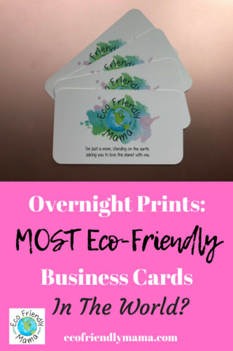 Overnight Prints The Most Eco Friendly Business Cards In The World